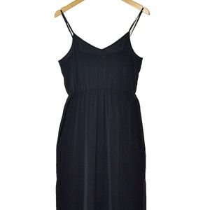 H&M Black Side Split Maxi Dress